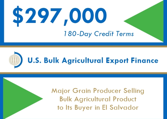 $296k FIBC Short-Term Export Financing of Bulk Agriculture