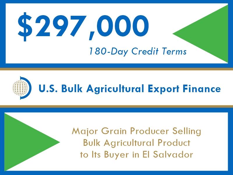 $296k FIBC Short-Term Export Financing of Bulk Agriculture