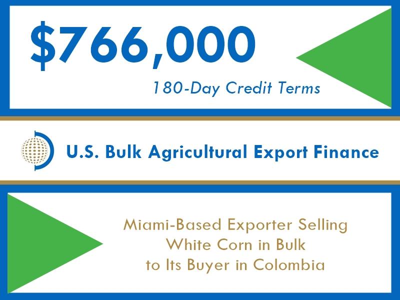 $776k FIBC Short-Term Export Financing of Bulk Agriculture