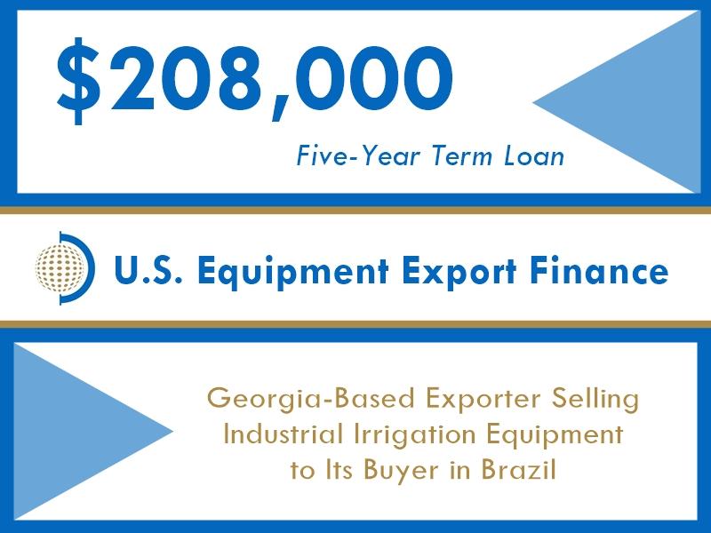 Equipment Export Financing $208k website v1