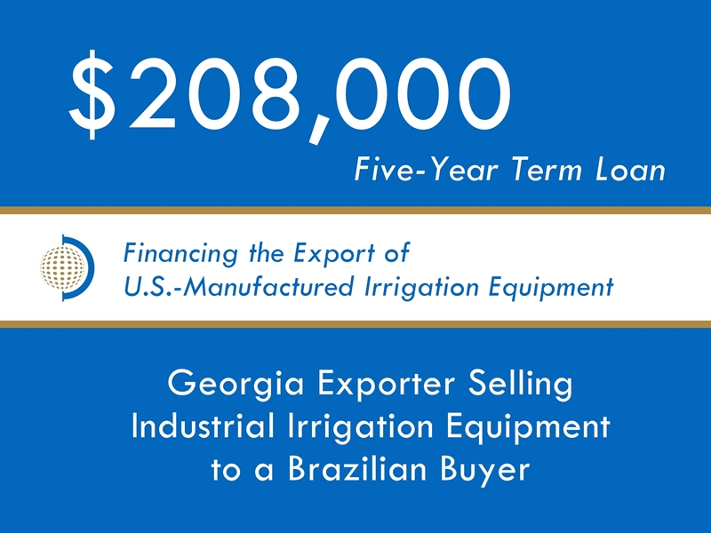 Equipment Export Financing $208k website