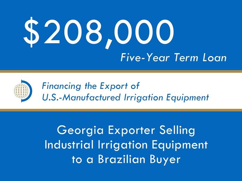 Equipment Export Financing $208k website