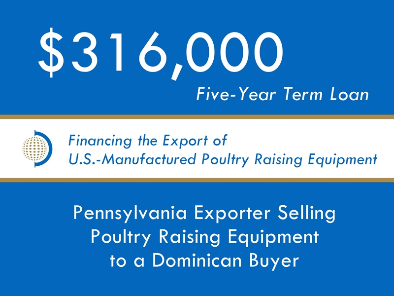 Equipment Export Financing $316k website