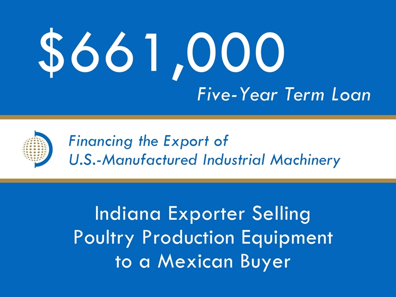 Equipment Export Financing $661k website