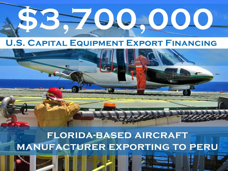 $3.7 mm Florida-based Aircraft Manufacturer Exporting to Peru